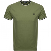 Product Image for Fred Perry Twin Tipped T Shirt Green