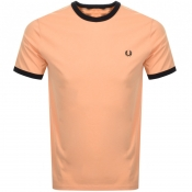 Product Image for Fred Perry Ringer T Shirt Orange