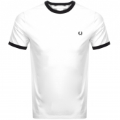 Fred Perry Ringer T Shirt White