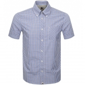 Product Image for Pretty Green Short Sleeve Check Shirt Burgundy