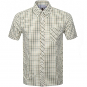 Product Image for Pretty Green Short Sleeve Check Shirt Khaki