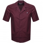 Vivienne Westwood Short Sleeve Shirt Burgundy