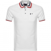 Product Image for Luke 1977 Spade Striped Polo T Shirt White