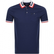 Product Image for Luke 1977 Spade Striped Polo T Shirt Navy