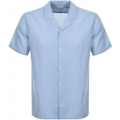 Levis Short Sleeved Cubano Shirt Blue