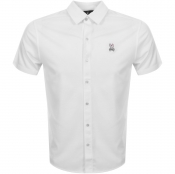 Psycho Bunny Oxford Interlock Shirt White