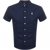 Psycho Bunny Oxford Interlock Shirt Navy