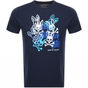 Product Image for Psycho Bunny Hallam Crew Neck T Shirt Navy