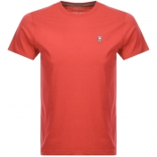 Psycho Bunny Classic Crew Neck T Shirt Red