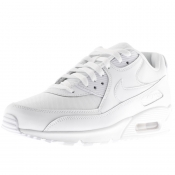 Product Image for Nike Air Max 90 Essential Leather Trainers White