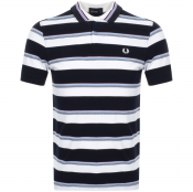 Fred Perry Striped Polo T Shirt White