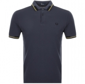 Fred Perry Abstract Collar Polo T Shirt Grey