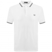 Product Image for Fred Perry Twin Tipped Polo T Shirt White