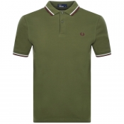 Fred Perry Twin Tipped Polo T Shirt Green