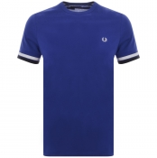 Fred Perry Bold Tipped T Shirt Navy