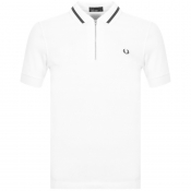 Fred Perry Vinyl Tipped Polo T Shirt White