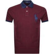 Product Image for Ralph Lauren Logo PoloT Shirt Burgundy