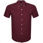Product Image for Ralph Lauren Short Sleeved Slim Fit Shirt Burgundy