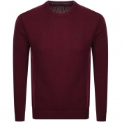 Ralph Lauren Knit Jumper Burgundy