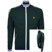 Ralph Lauren Full Zip Taped Sweatshirt Green