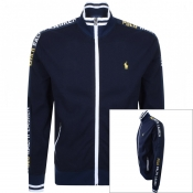 Product Image for Ralph Lauren Full Zip Taped Sweatshirt Navy