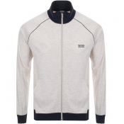 Product Image for BOSS HUGO BOSS Full Zip Sweatshirt Beige Marl