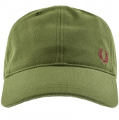 Product Image for Fred Perry Pique Baseball Cap Green