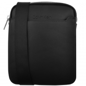 Product Image for Calvin Klein Silver Flat Crossover Bag Black