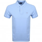 Gant Oxford Pique Rugger Polo T Shirt Blue