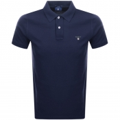 Gant Oxford Pique Rugger Polo T Shirt Navy