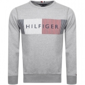 Product Image for Tommy Hilfiger Logo Sweatshirt Grey