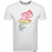 Pretty Green Plant Print T Shirt White