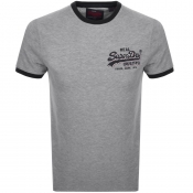 Product Image for Superdry Vintage Logo Ringer T Shirt Grey