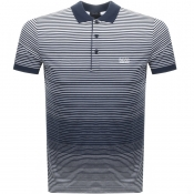 BOSS Athleisure Paddy 3 Polo T Shirt Navy