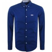 Product Image for BOSS Athleisure Biado R Long Sleeved Shirt Blue