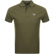 Barbour Pique Polo T Shirt Green