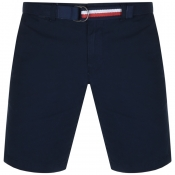 Tommy Hilfiger Brooklyn Twill Belt Shorts Navy