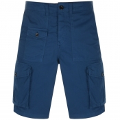 Pretty Green Cargo Shorts Blue
