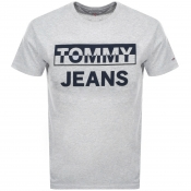 Tommy Jeans Block Logo T Shirt Grey