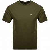 Tommy Jeans Washed T Shirt Green