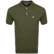 Product Image for Tommy Jeans Regular Fit Polo T Shirt Green