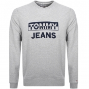 Tommy Jeans Crew Neck Logo Sweatshirt Grey