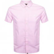 Pretty Green Short Sleeve Oxford Shirt Pink
