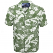 Pretty Green Short Sleeve Floral Shirt Green