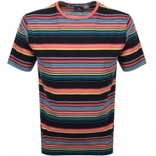 Product Image for PS By Paul Smith Multi Stripe T Shirt Black