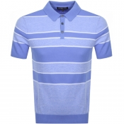 Product Image for Michael Kors Stripe Knitted Polo T Shirt Blue