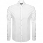 Product Image for Michael Kors Long Sleeved Logo Shirt White