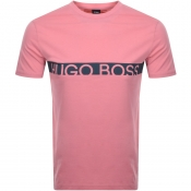BOSS HUGO BOSS Slim Fit UV Logo T Shirt Pink