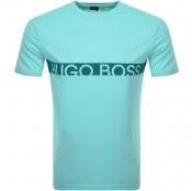Product Image for BOSS HUGO BOSS Slim Fit UV Logo T Shirt Green