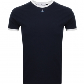 Product Image for Vivienne Westwood Small Orb Ringer T Shirt Navy